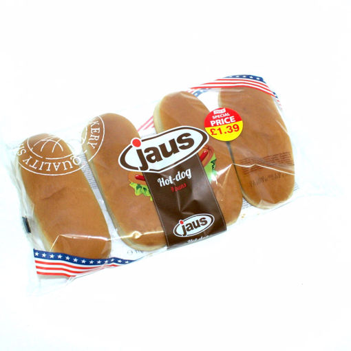 Picture of Jaus 4 Hot - Dog Buns 250G