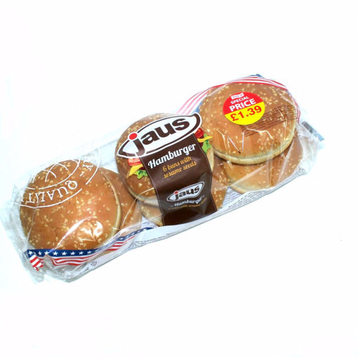 Picture of Jaus 6 Hamburger Buns With Sesame Seeds 300G