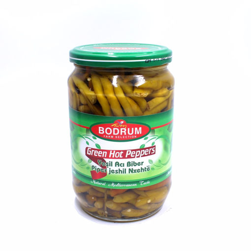 Picture of Bodrum Green Hot Peppers 630G
