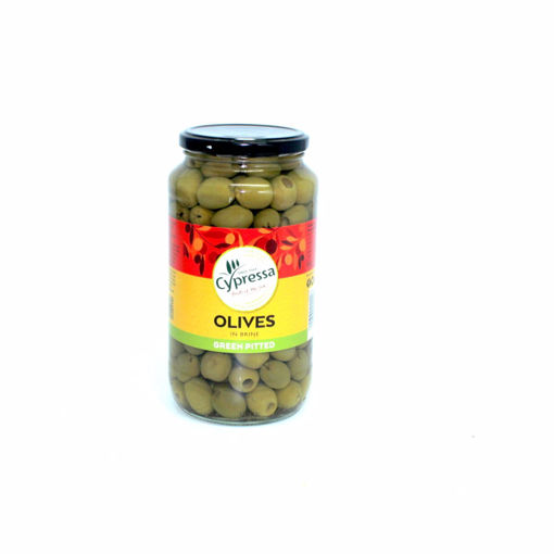 Picture of Cypressa  Green Pitted Olives In Brine 860G