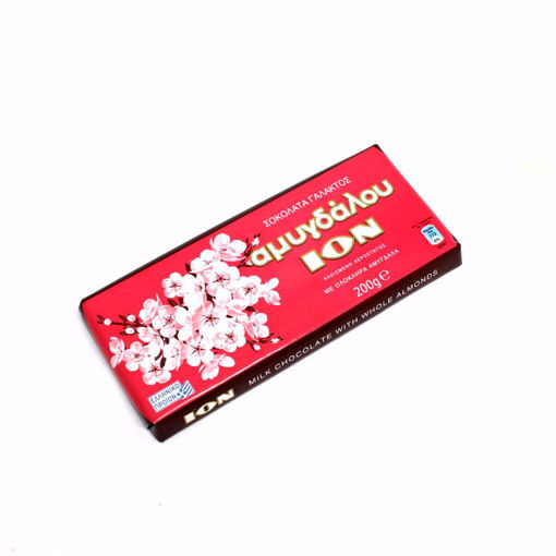 Picture of Ion Milk Chocolate With Whole Almonds 200G