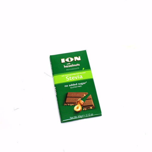 Picture of Ion Milk Chocolate With Hazelnuts Stevia 60G