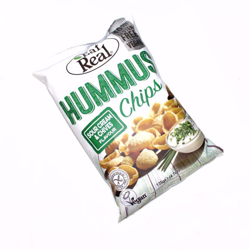 Picture of Eat Real Hummus Sour Cream &Chives Flavour Chips 135G