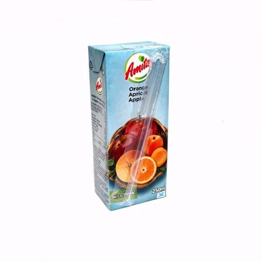 Picture of Amita Orange & Apple Apricot Juice 250Ml