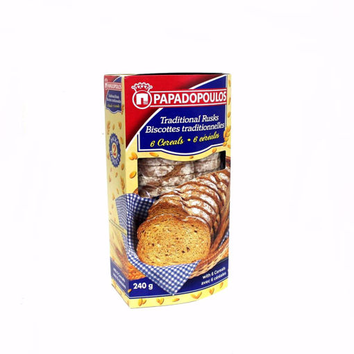 Picture of Papadopoulou Traditional 6 Cereals Rusks 240G