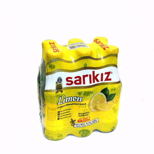 Picture of Sarikiz Lemon Flavored Mineral Carbonated Drinks 6X200ml