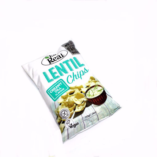 Picture of Eat Real Lentil Creamy Dill Chips 113G