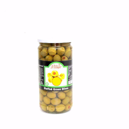 Picture of Village Stuffed Green Olives 700G