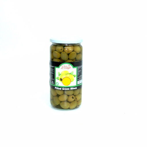 Picture of Village Pitted Green Olives 690G