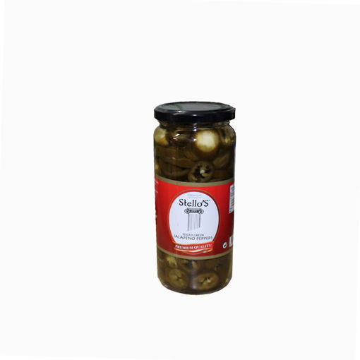 Picture of Stello's Sliced Green Jalapeno Peppers 500Ml